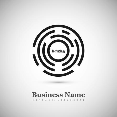 Modern kreativ cirkel logotyp bakgrund