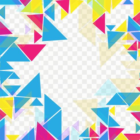 Abstract colorful geometric design