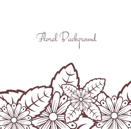Abstract lace floral background