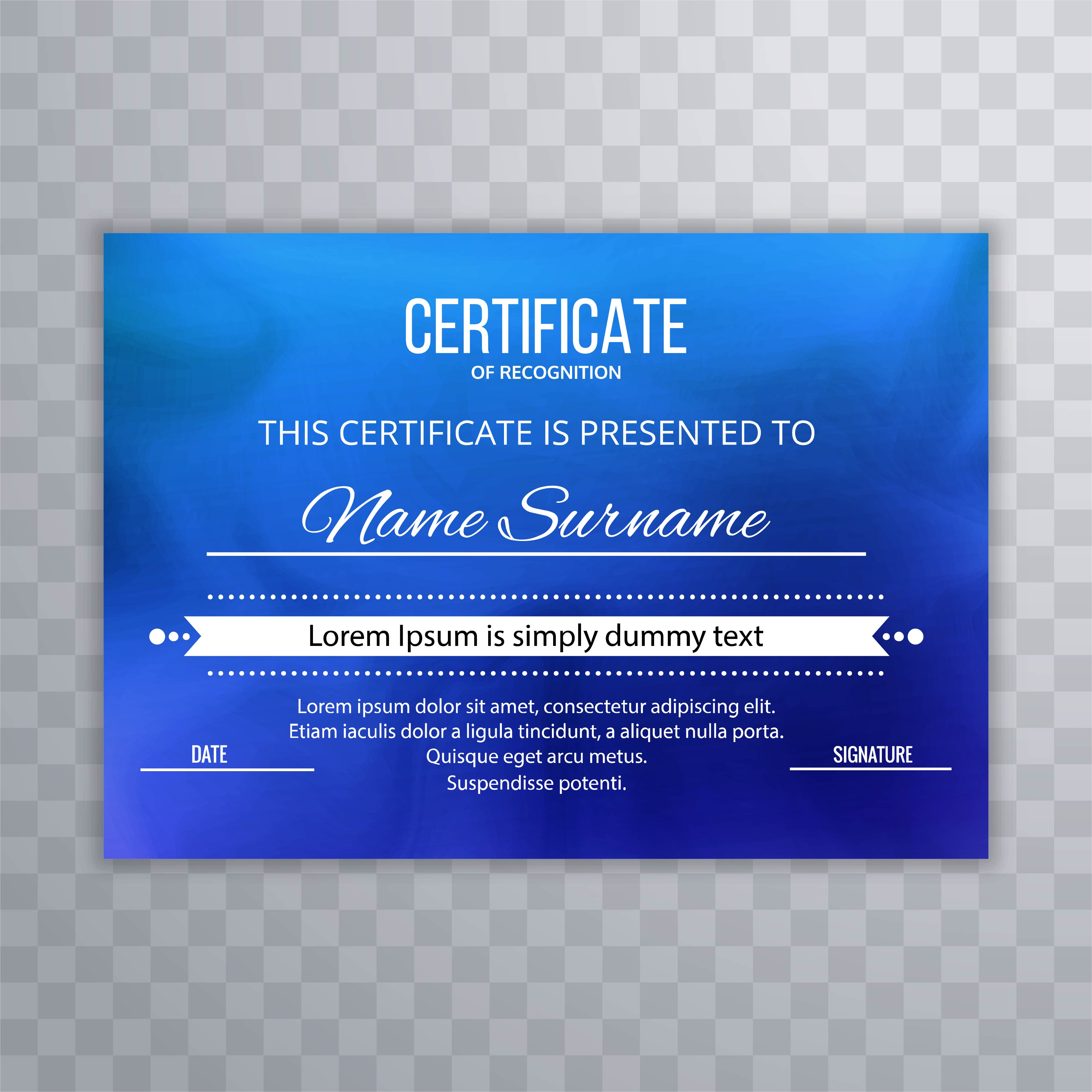 Abstract blue certificate background vector - Download ...
