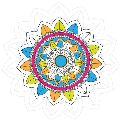Moderne kleurrijke mandala achtergrond