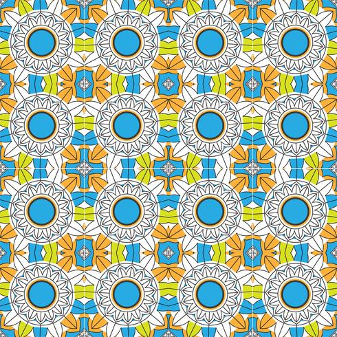 Abstract colorful mandala pattern background