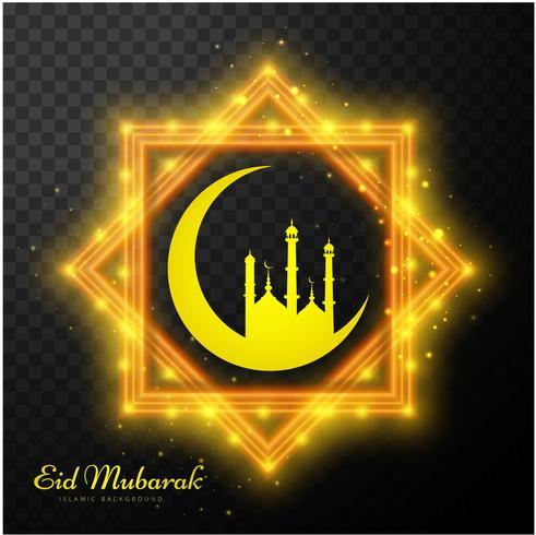 Fundo abstrato cartão Eid Mubarak