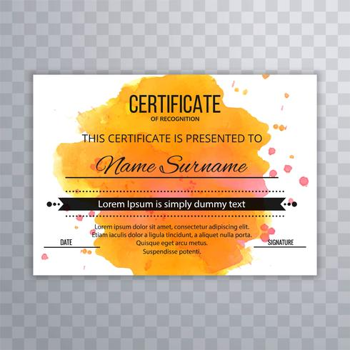 Abstract colorful certificate design background