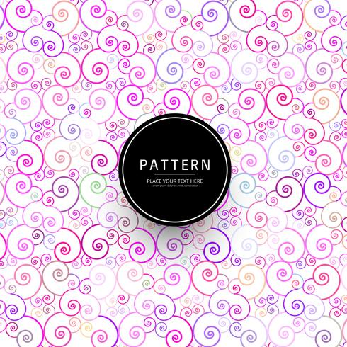 Abstrait élégant motif floral coloré