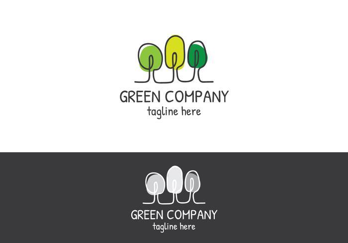 träd lineart logo