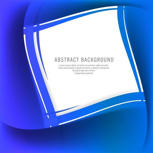 Modern creative blue wave background vector