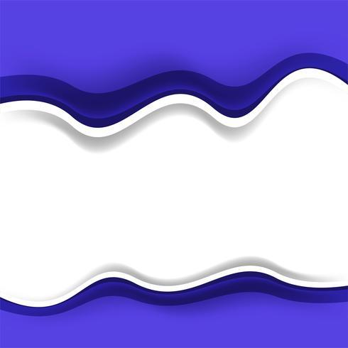 Arrière-plan de conception de vague créative moderne
