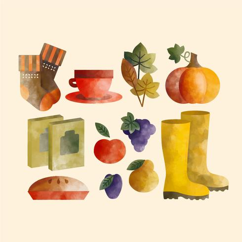 Vector Collection of Autumn Essentials