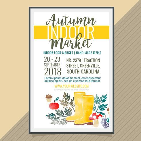 Vector Autumn Indoor Market Poster
