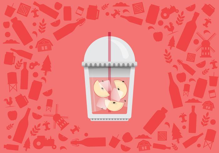 Apfelwein-Schlamm-erneuernde Energie-Getränk-Illustration