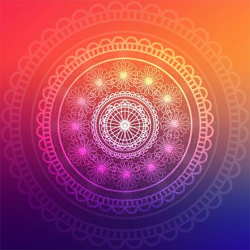 Abstract colorful mandala background