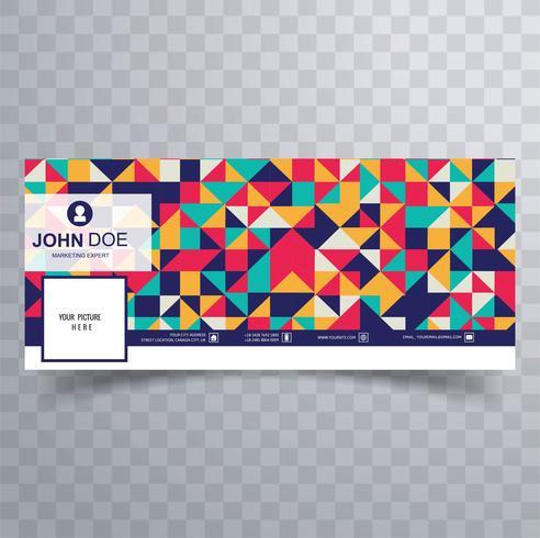 Vacker färgrik facebook tidslinje banner mall vektor