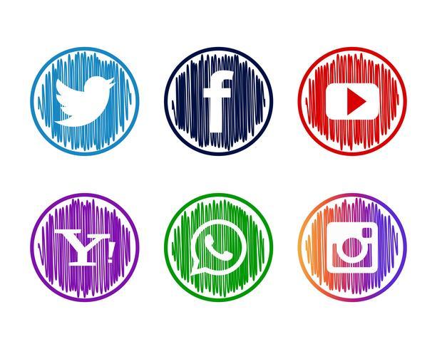 Conjunto de ícones de mídia socila moderno