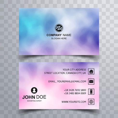 Abstract beautiful business card colorful template vector