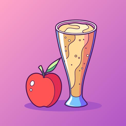 A Glass Of Apple Cider Slush Vector