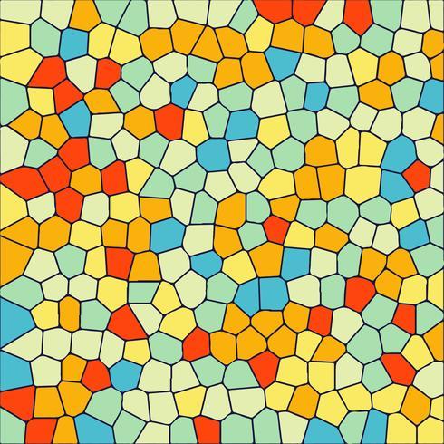 Fond de cristal de mosaïque colorée moderne
