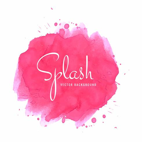 Abstract pink watercolor spalsh background