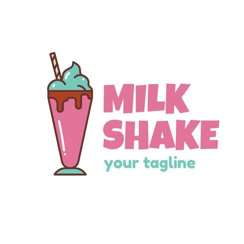 Plantilla de logotipo de batido de leche
