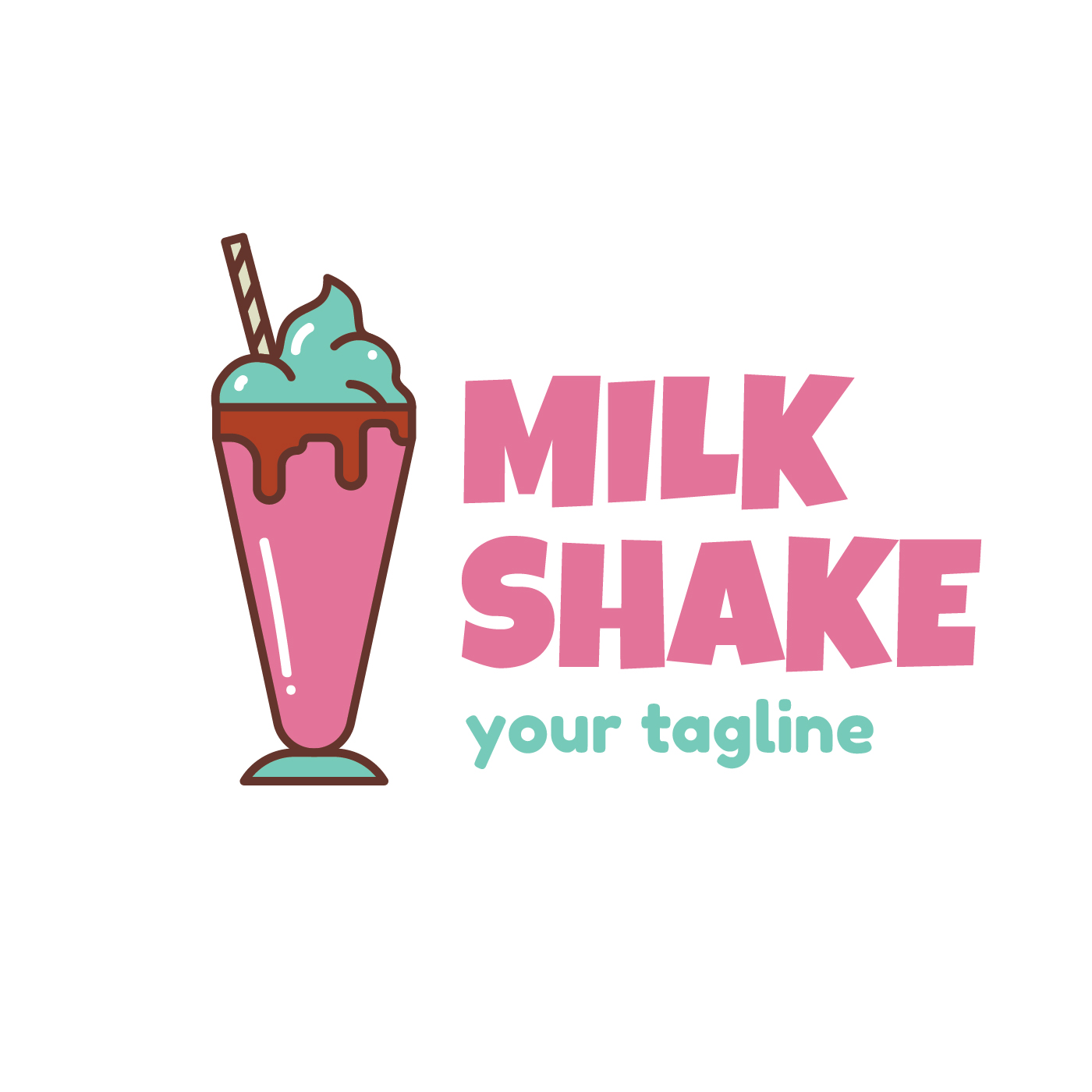 Plantilla de logotipo de batido de leche - Descargue Gráficos y ...