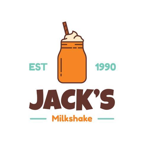Milkshake Logo Vector