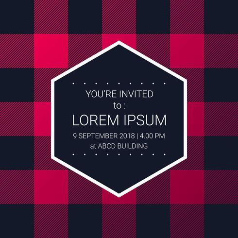 Trendy houthakker patroon partij uitnodiging ontwerpsjabloon