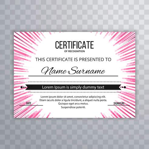 Abstract creative certificate background vector