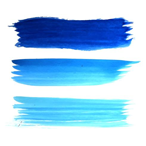 Disegno blu astratto del colpo dell'acquerello di tiraggio della mano