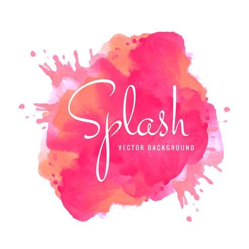 Vecteur de conception élégante splash coloré aquarelle