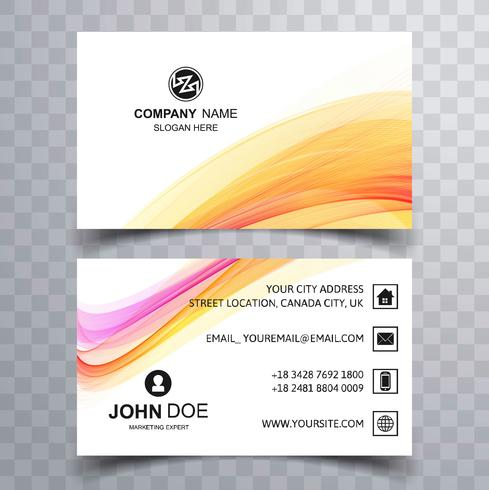 Abstract wave business card background