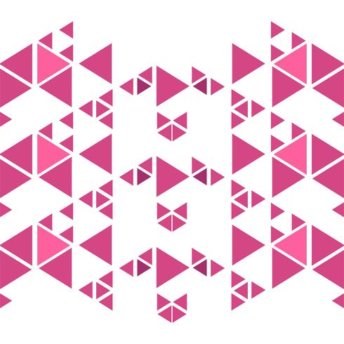 Abstract pink triangles polygon background