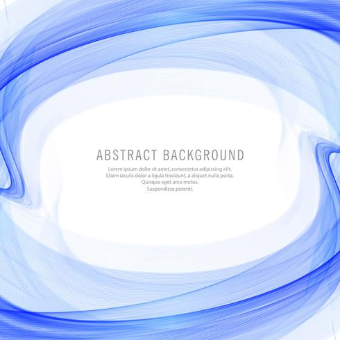 Abstract creative blue wave background