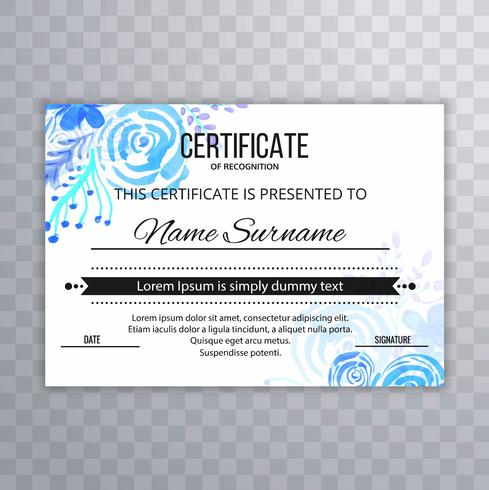 Abstract certificate design template vector illustration