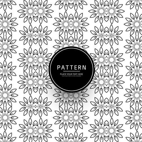 Modern flower pattern background