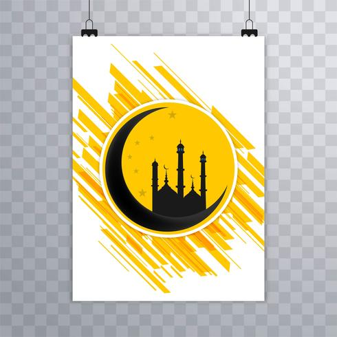 Abstrakt Eid mubarak islamisk broschyr design vektor