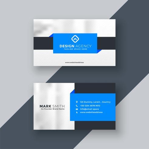 design de carte de visite géométrique bleu moderne