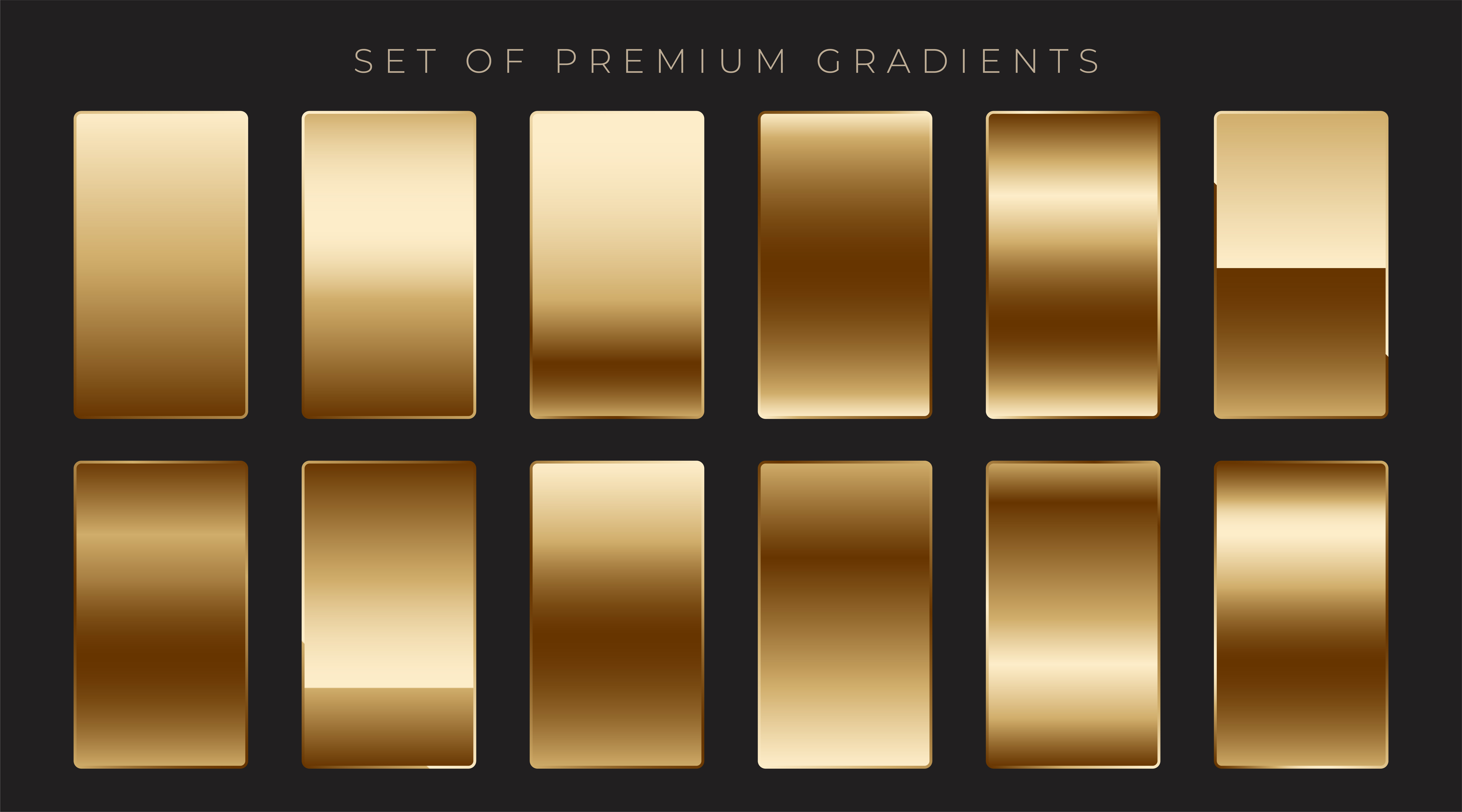 golden gradient free vector art