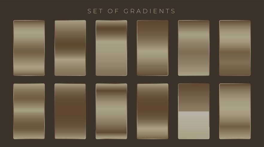 ensemble de gradients brillants metaalic sombres