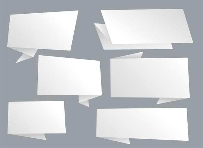 setof empty chat bubbles in white