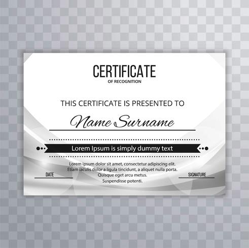 Moderner Zertifikatdesign-Wellenhintergrund vektor