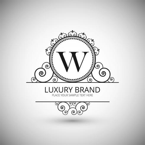 Modern luxury brand logo background vector