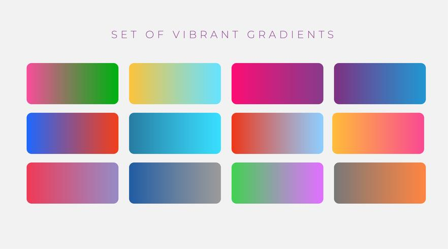 livlig uppsättning färgstarka gradienter