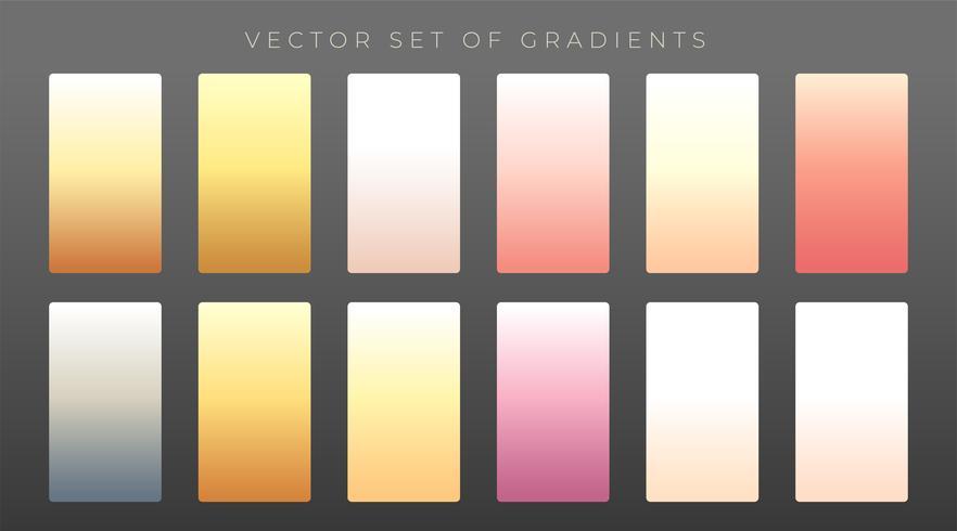 elegant set of premium gradients