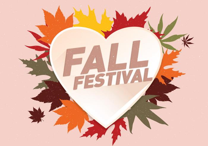 Fall Festival Background Vector