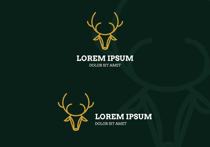 Deer Head Lineart Logo