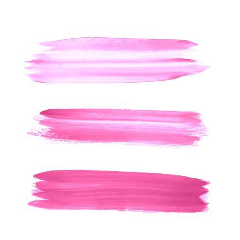 Diseño de trazo abstracto acuarela rosa set