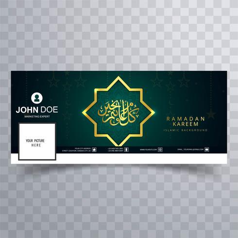 Beautiful ramadan kareem facebook template cover design