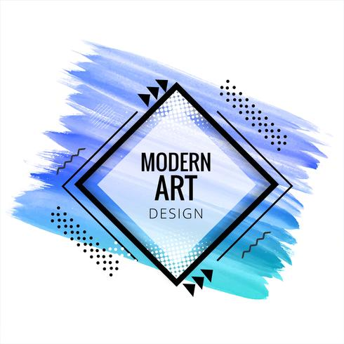 modern blue watercolor design background
