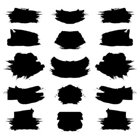Abstrakter schwarzer grunge Anschlagsatz