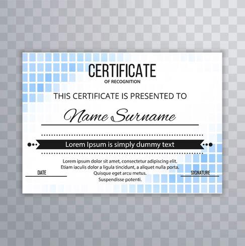 Design moderno fundo modelo de certificado